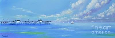 Painting - San Clemente Ocean by Mary Scott