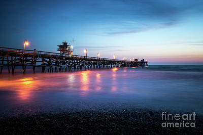 San Clemente Beach Photograph - San Clemente Pier At Sunset by Paul Velgos