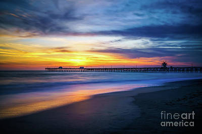 San Clemente Photograph - San Clemente Pier At Sunset Photo by Paul Velgos
