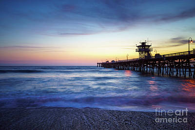 San Clemente Beach Photograph - San Clemente Pier At Sunset Photography by Paul Velgos