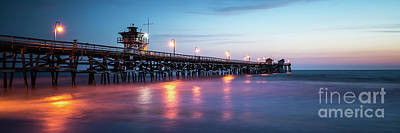 San Clemente Beach Photograph - San Clemente Pier Sunset Panorama Photo by Paul Velgos