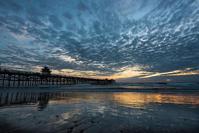 Photograph - San Clemente Pier Sunset by Scott Cunningham