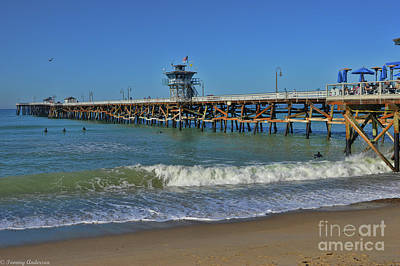 San Clemente Pier Art Print by Tommy Anderson