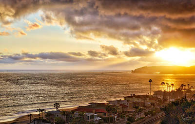 Photograph - San Clemente Sunset 2 by Endre Balogh