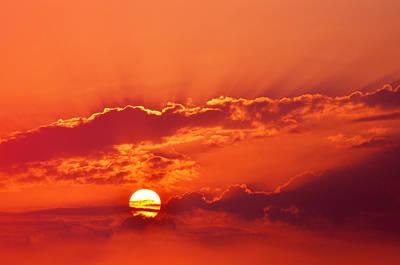 San Clemente Vibrant Sunset Original by Kyle Hanson