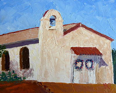 Painting - San Cosme Chapel by Susan Woodward