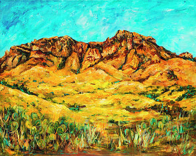 Painting - San Cristo Mountains by Sally Quillin