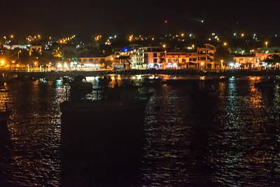 Photograph - San Cristobal Harbor Lights by Harry Strharsky