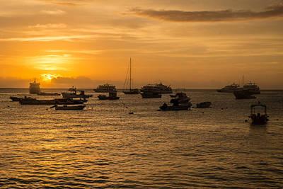 Photograph - San Cristobal Harbor Sunset by Harry Strharsky