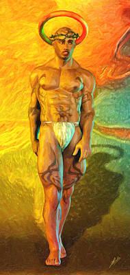 Atheist Painting - San Cristobalito by Joaquin Abella