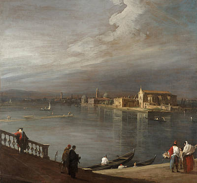 Painting - San Cristoforo, San Michele, And Murano From The Fondamenta Nuove, Venice by Canaletto