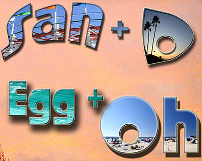San D Egg Oh Art Print by Christopher Woods