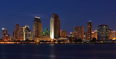 Skyline Photograph - San Diego America's Finest City by Larry Marshall