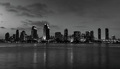 Photograph - San Diego At Dusk by L O C
