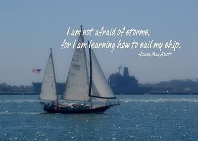 San Diego Bay Quote Print by JAMART Photography