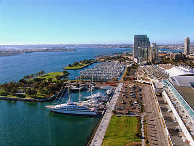 San Diego Convention Center Photograph - San Diego By Day by Glenn McCarthy Art and Photography