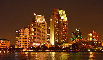Photograph - San Diego By Night by Carla Parris