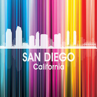 Digital Art - San Diego Ca 2 Squared by Angelina Vick