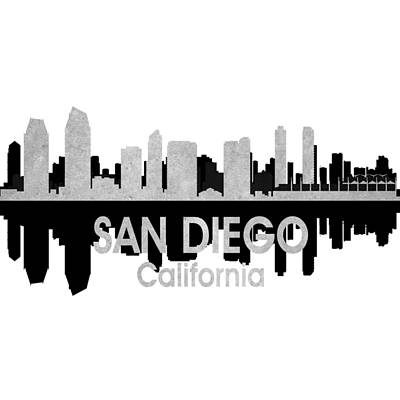 Digital Art - San Diego Ca 4 Squared by Angelina Vick