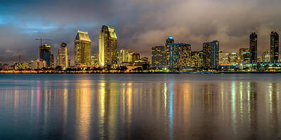 Photograph - San Diego Ca At Dusk 7r2_dsc3107_17-01-14 by Greg Kluempers
