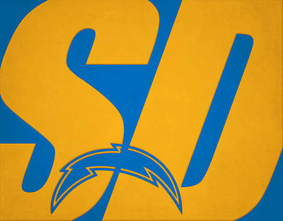 Photograph - San Diego Chargers City Name by Joe Hamilton