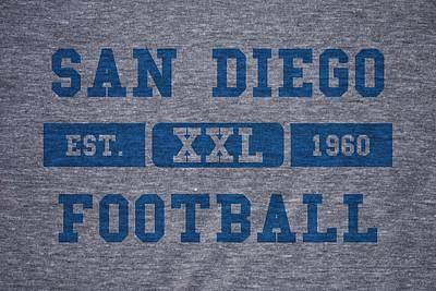 San Diego Chargers Retro Shirt Print by Joe Hamilton