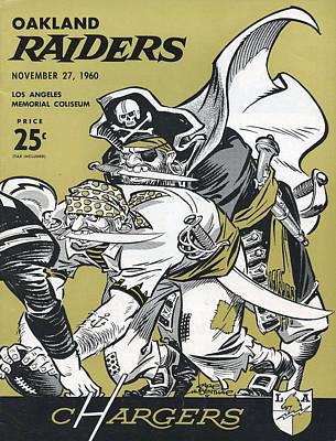 San Diego Chargers Vintage Program 4 Art Print by Joe Hamilton