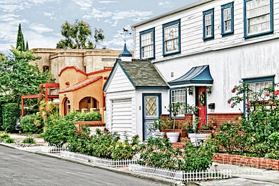 Photograph - San Diego City Living - Charming Corner by Gabriele Pomykaj