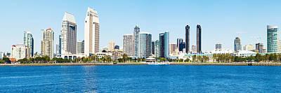 San Diego Cityscape Panorama Art Print