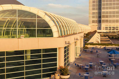 Digital Art - San Diego Conference Center by Liz Leyden