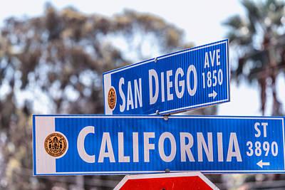 San Diego Crossing Over California Art Print by Joseph S Giacalone