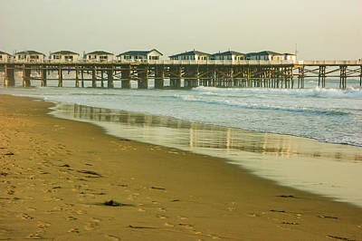 San Diego Crystal Pier Sunset Art Print