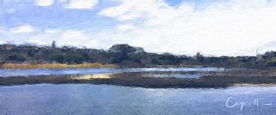 Painting - San Diego Famosa Slough by Jan Cipolla