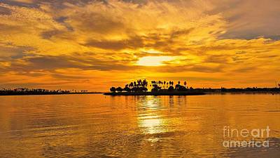 Photograph - San Diego Golden Sky By Jasna Gopic by Jasna Gopic