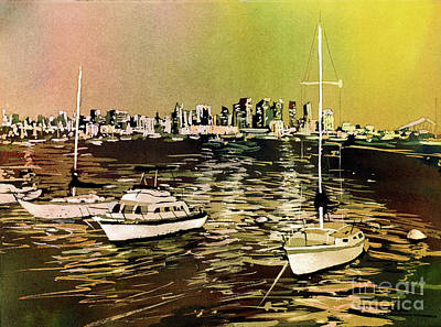 Painting - San Diego Harbor by Ryan Fox