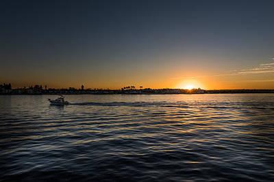 Photograph - San Diego Harbor Sunset by John Johnson