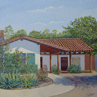 Painting - San Diego House, Old Town by Miguel A Chavez