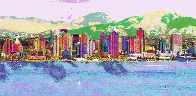 San Diego Art Print by Jeff Gibford
