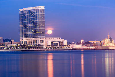 Photograph - San Diego Moonrise by Ben Graham