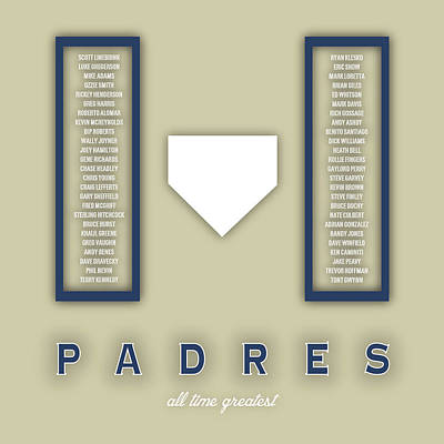 San Diego Artist Digital Art - San Diego Padres Art - Mlb Baseball Wall Print by Damon Gray