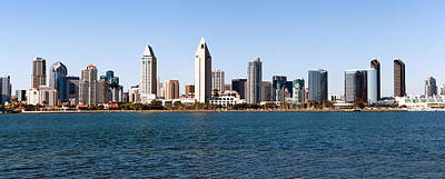San Diego Bay Photograph - San Diego Panorama by Paul Velgos