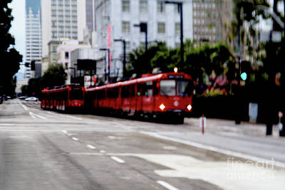 Photograph - San Diego Red Trolley by Linda Shafer