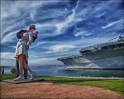 Sailors Girl Photograph - San Diego Sailor by Chris Lord