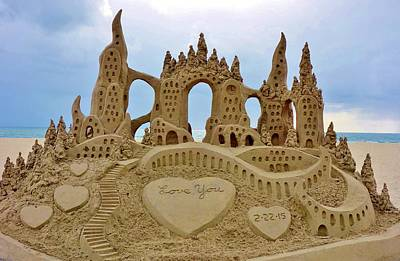 Castles In The Sand Photograph - San Diego Sand Castle by Shannon Lee