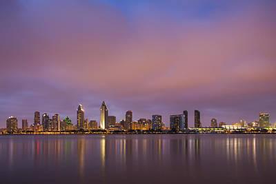 Sky Line Photograph - San Diego Skyline by Adam Romanowicz