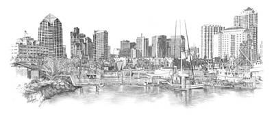 San Diego Skyline Original by Andrew Aagard