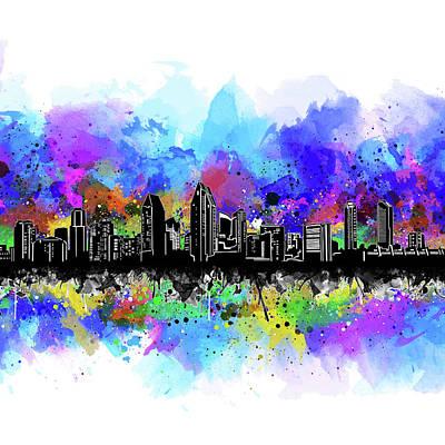 Photograph - San Diego Skyline Artistic 2 by Bekim Art