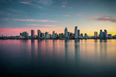 Photograph - San Diego Skyline At Dawn by James Udall
