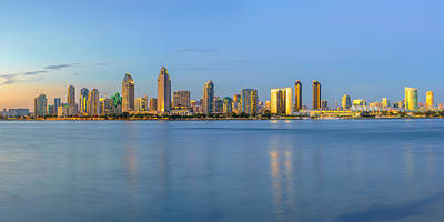 San Diego Skyline At Dusk Art Print