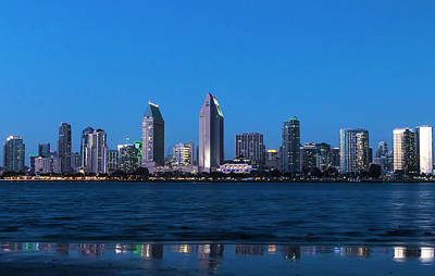 Classic Christmas Movies - San Diego Skyline Blue by Patti Deters